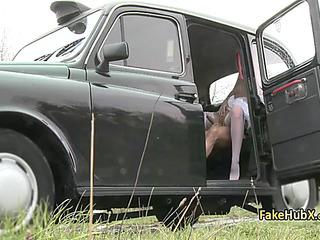 Impatient taxi chatelaine fuck 2 wet cracks