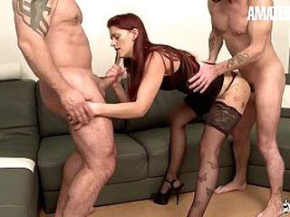 Crude EURO - Redhead European Lola Candy Join Sex Beside Nasty Guys