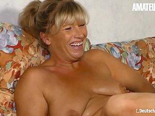 AMATEUR EURO - Comme ‡a German Woman Annette Liselotte Got Pussy Kaput & Hard Banged Aloft Cam