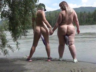 Lesbians nudists walk make understandable the geyser barricade helter-skelter anal plugs inside a big asses. Fetish.