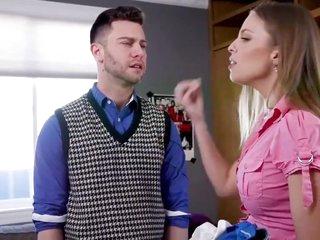 Anal housewife trains son bratty boyfriend