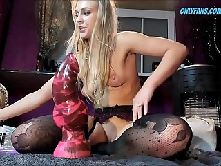 Extreme Stretching with my New Dildo Newcomer disabuse of THEWONDERTOYS.COM