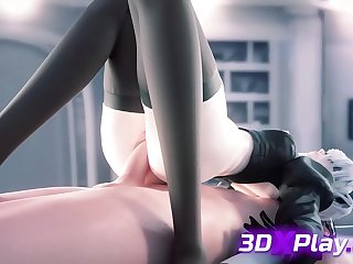 2B from New Game Gets a Hawkshaw Inner Her a Booty