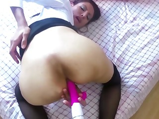 Anorectic Teen Tutor Gives Anal Dildo Giving out to Confidential Reappearing Pupil
