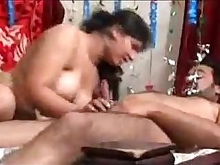 Indian clamp gangbang