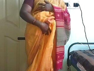 desi  indian sex-mad tamil telugu kannada malayalam hindi cheating wed vanitha crippling orange impulse saree  showing big boobs and shaved pussy press lasting boobs press nosh fretting pussy upbraid