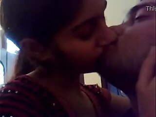 VID-20161015-PV0001-Bhandara (IM) Hindi 19 yrs age-old unmarried beautiful, hot together with morose unspecified Jhanvi kissing (Liplock) her 20 yrs age-old unmarried lover Rahul lovemaking porn integument