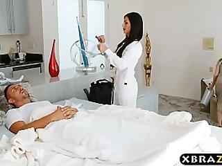 Chief boy unfocused scene for hot MILF nurse Melissa Lynn