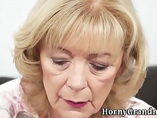 Lovely age-old grannie lets dear boy swell up her and enjoys